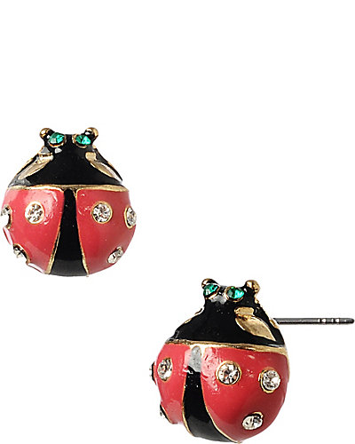 LADY BUG STUD EARRING RED