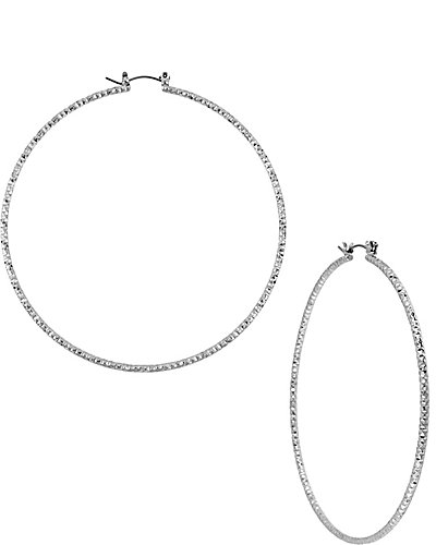 LARGE HOOP EARRING METALLIC