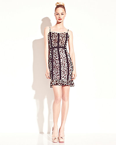 LEOPARD BUSTIER DRESS LEOPARD