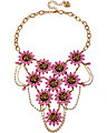 LEOPARD FLOWER BIB FRONTAL NECKLACE LEOPARD