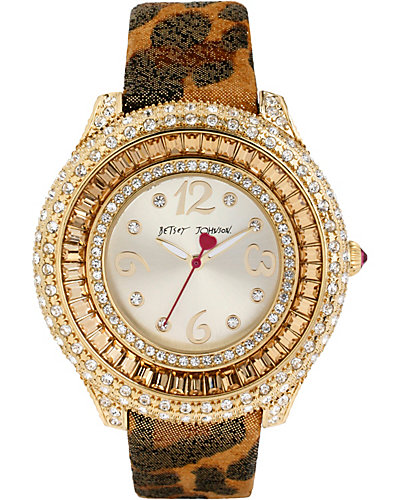 LEOPARD GOLD AND CRYSTAL WATCH LEOPARD