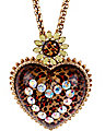 LEOPARD HEART PENDANT LONG NECKLACE LEOPARD