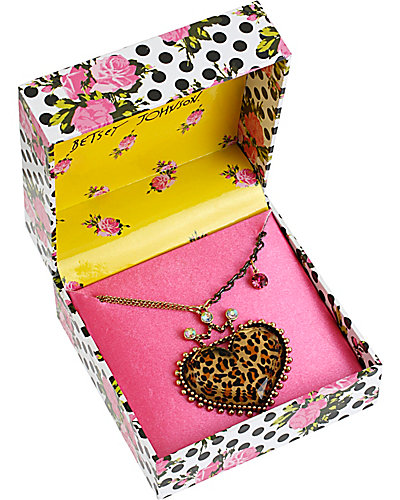 LEOPARD HEART PENDANT NECKLACE LEOPARD