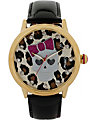LEOPARD SKULL GIRL WATCH BLACK