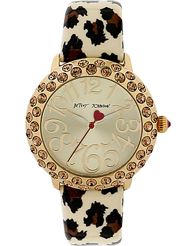 LEOPARD WATCH WITH TOPAZ STONES LEOPARD