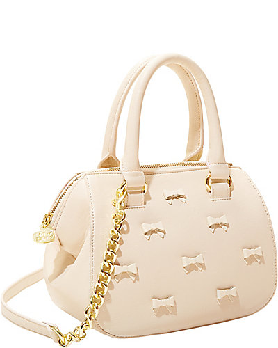 LITTLE BOW CHIC CROSSBODY SATCHEL CREAM