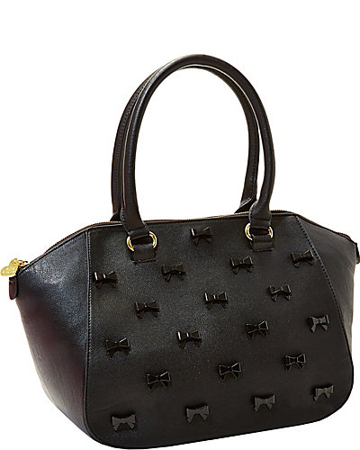 LITTLE BOW CHIC SATCHEL BLACK