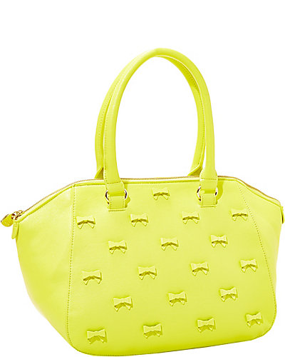 LITTLE BOW CHIC SATCHEL CITRON
