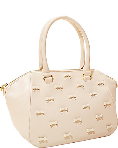 LITTLE BOW CHIC SATCHEL CREAM