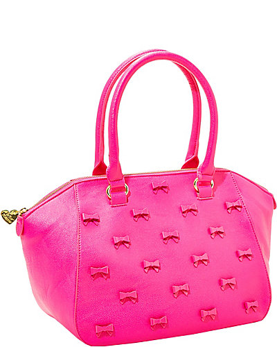 LITTLE BOW CHIC SATCHEL FUSCHIA
