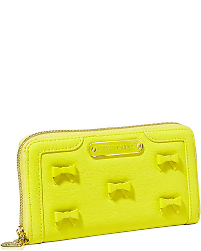 LITTLE BOW CHIC ZIP AROUND WALLET CITRON