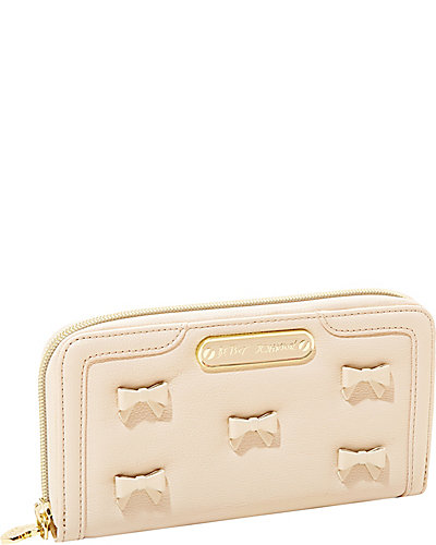 LITTLE BOW CHIC ZIP AROUND WALLET CREAM