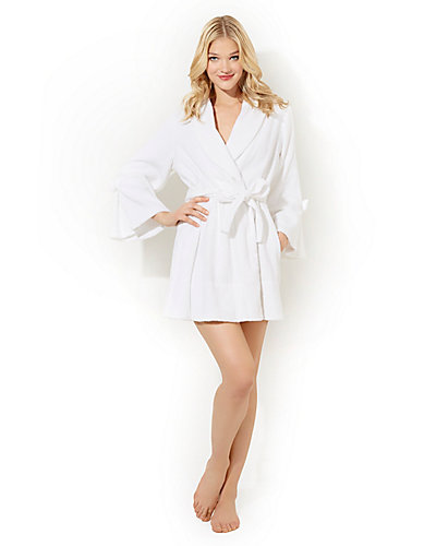 LOOP TERRY ROBE WHITE PEARL