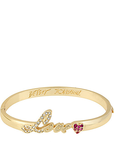 LOVE HINGE BANGLE CRYSTAL