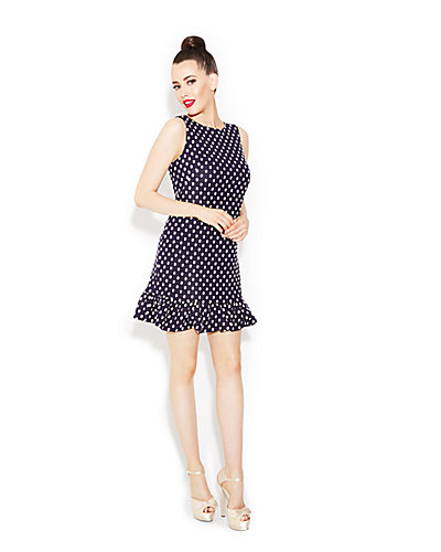 LOVELY DOTS DRESS NAVY