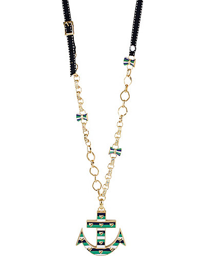 LRG STRIPE ANCHOR PENDANT GREEN