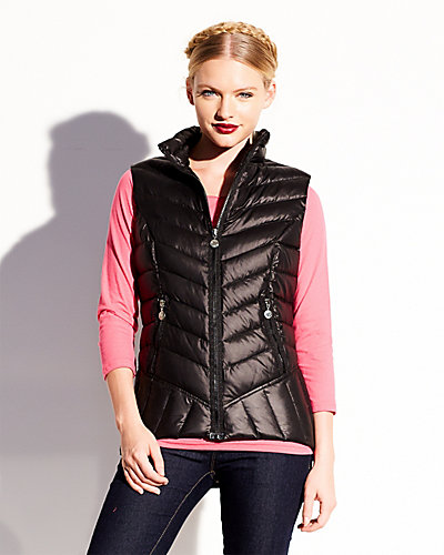 MARSHMALLOW DOWN VEST BLACK
