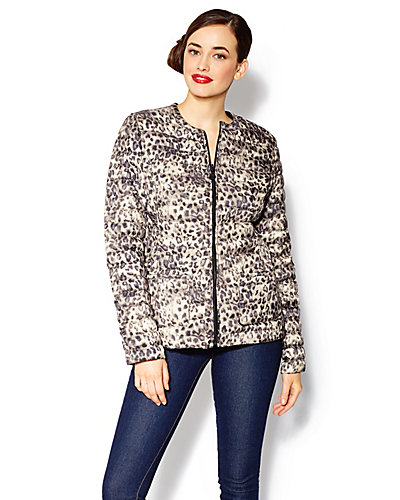 MARSHMALLOW REVERSIBLE JACKET LEOPARD