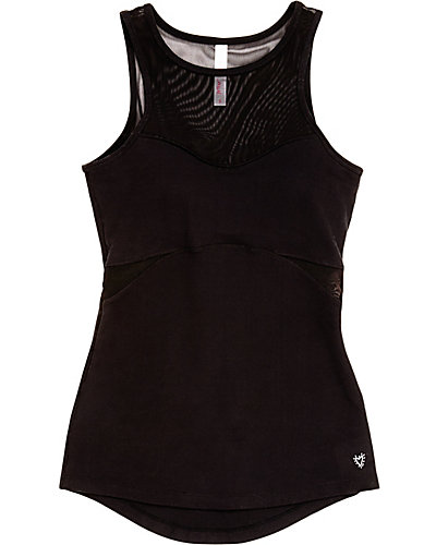 MESH CUT OUT TANK BLACK