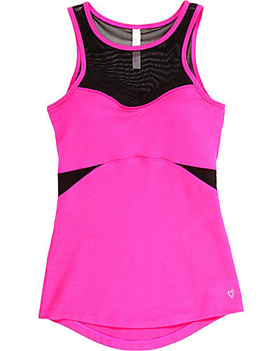 MESH CUT OUT TANK PINK