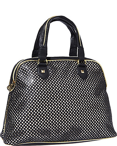 MESH MADNESS DOME SATCHEL BLACK