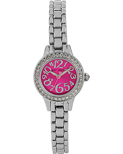 MINI PINK WATCH SILVER
