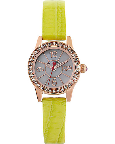 MINI YELLOW STRAP WATCH YELLOW