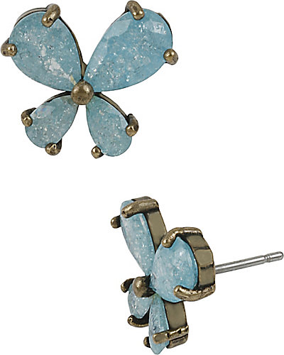 MINT BLUE BUTTERFLY STUD TURQUOISE