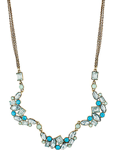 MINT CLUSTER MULTI CHAIN NECKLACE MINT
