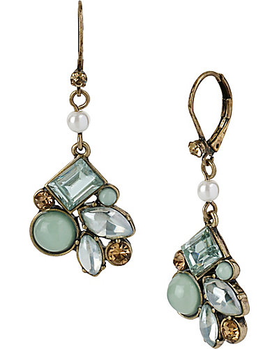 MINT DROP STONE CLUSTER EARRING MINT