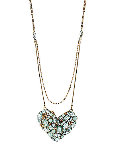 MINT LARGE HEART NECKLACE MINT