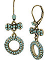 MINT PAVE CIRCLE DROP EARRING MINT