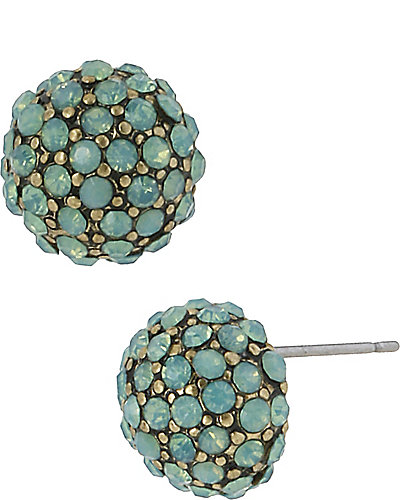 MINT PAVE CIRCLE STUD MINT