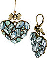 MINT STONE CLUSTER HEART EARRING MINT