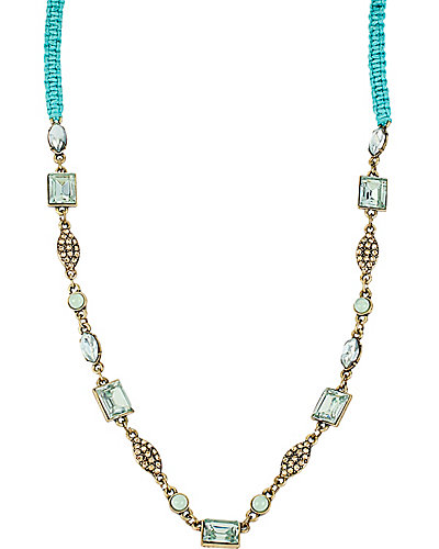 MINT STONE LINKS BRAID NECKLACE MINT