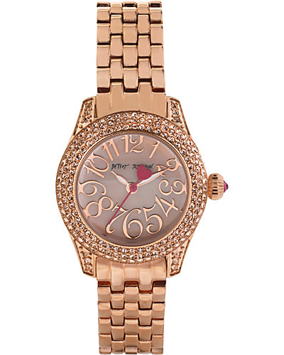 MULTI ROW CRYSTAL ROSE GOLD WATCH ROSE GOLD