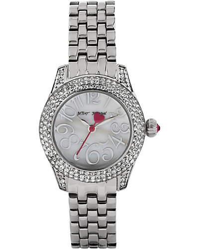 MULTI ROW CRYSTAL SILVER WATCH SILVER