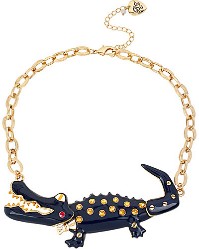 NAUTICAL ALLIGATOR PENDANT BLUE