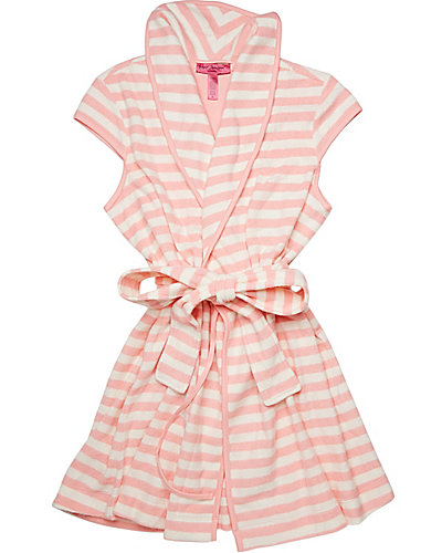 NEW BABY TERRY ROBE CORAL