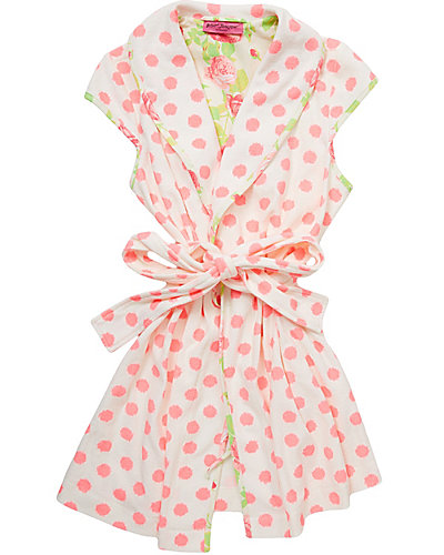 NEW BABY TERRY ROBE WHITE-MELON