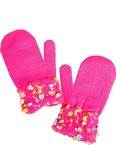 ON THE BRIGHT SIDE MITTENS FUCHSIA