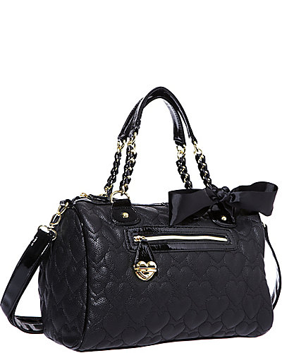 ONE AND ONLY NOW SATCHEL BLACK