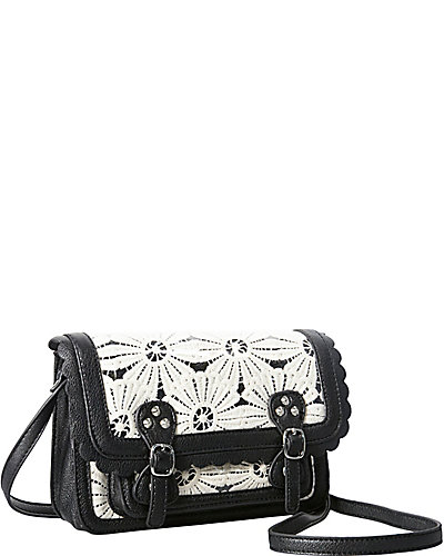 OOPS A DAISY MINI SATCHEL BLACK