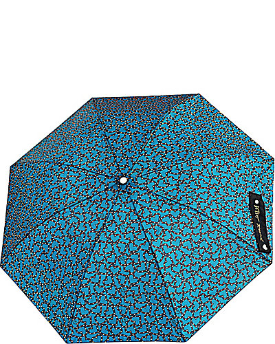 OPEN HEART AUTO OPEN UMBRELLA TEAL