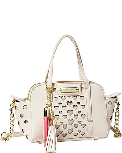 OPEN YOUR HEART SMALL SATCHEL CREAM