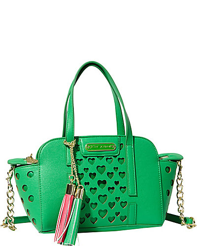 OPEN YOUR HEART SMALL SATCHEL GREEN