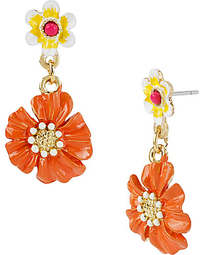 ORANGE FLOWER DROP EARRING ORANGE