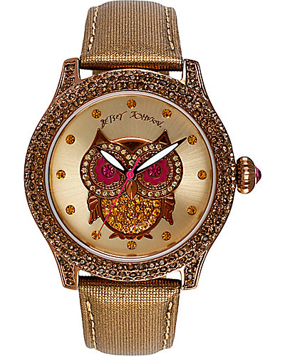 OWL FACE METALLIC BAND WATCH METALLIC