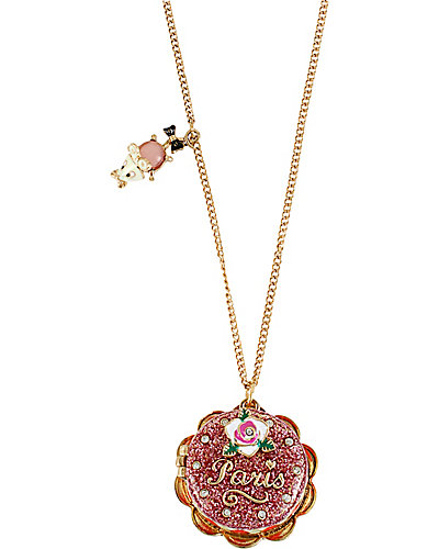 PARIS CAKE LONG PENDANT PINK
