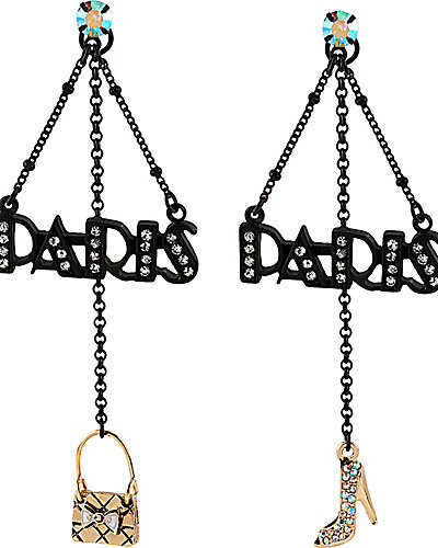 PARIS CHANDELIER EARRING BLACK